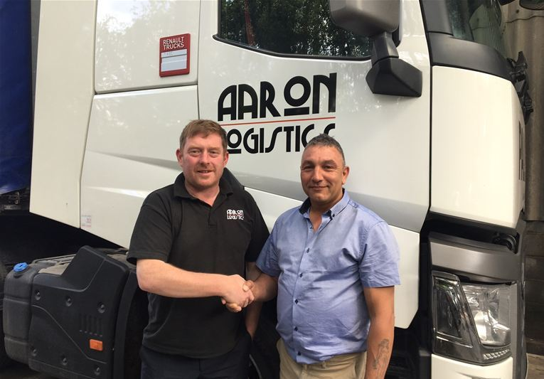 Paul driving forward with Aaron Logistics!